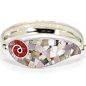 Украшения handmade. Livemaster - original item BRACELET with Coral and mother of Pearl. Unique bracelet. Handmade.