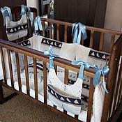 Работы для детей, ручной работы. Ярмарка Мастеров - ручная работа детский набор в кроватку. Handmade.