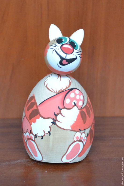 Игрушки животные, ручной работы. Ярмарка Мастеров - ручная работа. Купить кот качалка. Handmade. Комбинированный, котик, клей пва