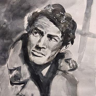 Картины и панно ручной работы. Ярмарка Мастеров - ручная работа Портрет Грегори Пэка. Handmade.