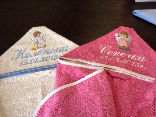 Ванная комната ручной работы. Ярмарка Мастеров - ручная работа. Купить Детское полотенце с капюшоном с именной вышивкой. Handmade. Полотенце