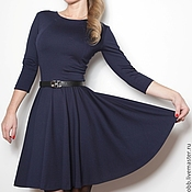 Одежда ручной работы. Ярмарка Мастеров - ручная работа Коктейльное платье с юбкой-солнце. Handmade.