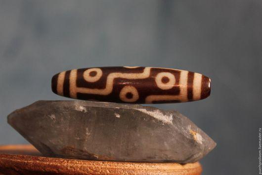 Для украшений ручной работы. Ярмарка Мастеров - ручная работа. Купить Тибетская бусина дзи 9:ти глазая (древняя). Handmade.