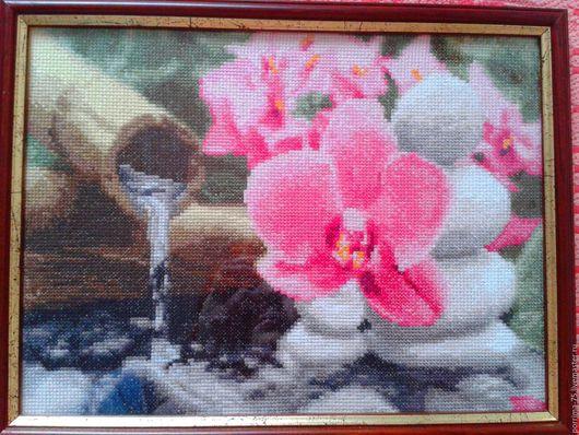 """Картины цветов ручной работы. Ярмарка Мастеров - ручная работа. Купить Серия """"Магия Востока"""" Энергия воды.. Handmade. Комбинированный"""
