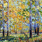 Картины и панно ручной работы. Ярмарка Мастеров - ручная работа Осеннее солнце. Handmade.