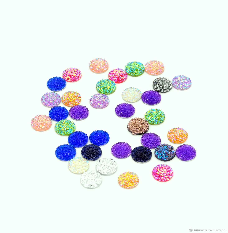 Acrylic cabochons, mixed color, Cabochons, Buzuluk,  Фото №1