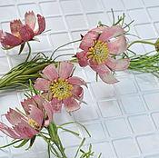 Украшения handmade. Livemaster - original item Necklace leather Flower cosmos. Handmade.