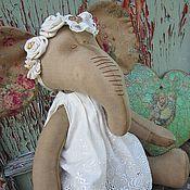 Куклы и игрушки ручной работы. Ярмарка Мастеров - ручная работа интерьерная игрушка слониха в стиле Шебби-шик. Handmade.
