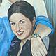 Коллективный портрет,Москва, 2011 \r\nБыл выполнен по заказу сотрудников  для директора компании. Фрагмент.