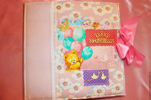 Подарки для новорожденных, ручной работы. Ярмарка Мастеров - ручная работа. Купить Альбом для фотографий для маленькой принцессы. Handmade. Розовый