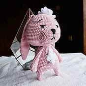 Куклы и игрушки handmade. Livemaster - original item Bunny in a soft pink coat. Handmade.