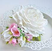 Свадебный салон handmade. Livemaster - original item Barrette with flowers