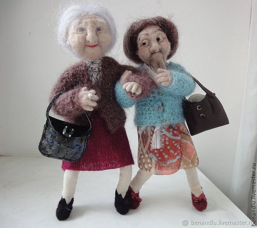 Интерьерная кукла из шерсти. Бабуля №2, Куклы и пупсы, Санкт-Петербург,  Фото №1