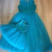 Платья ручной работы. Ярмарка Мастеров - ручная работа Комплект платьев для мамы и дочки. Handmade.
