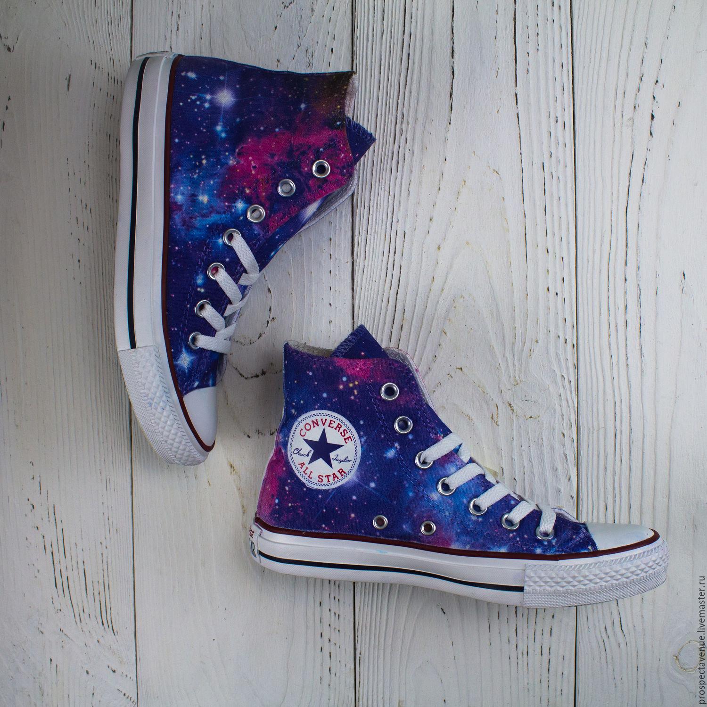 Обувь ручной работы. Ярмарка Мастеров - ручная работа. Купить Кеды Converse   Космос  ... 64d1c734e2970