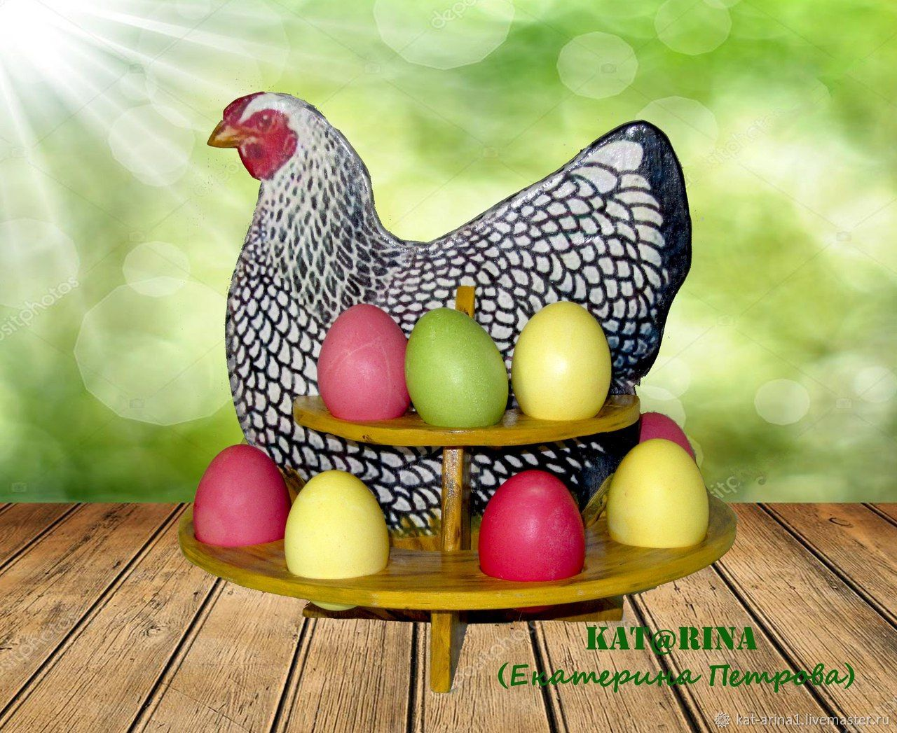 Kitchen handmade. Livemaster - handmade. Buy Author's stand for Easter eggs'chicken Ryaba'.White, interior decoration