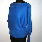 Одежда ручной работы. Ярмарка Мастеров - ручная работа Летучая мышь. Ярко-синяя. Handmade.