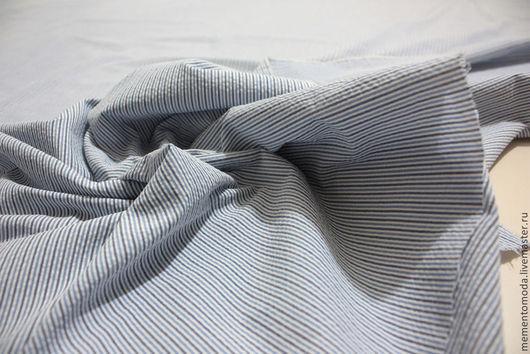 Шитье ручной работы. Ярмарка Мастеров - ручная работа. Купить Ткань плательно-блузочная серсакер. Handmade. Хлопок, ткани Италии