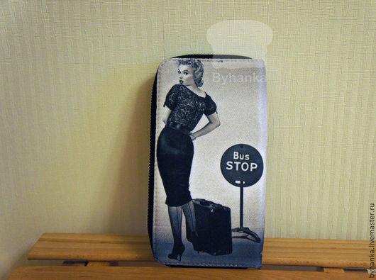 """Кошельки и визитницы ручной работы. Ярмарка Мастеров - ручная работа. Купить Кошелек """"Bus stop """". Handmade. Кошелек"""