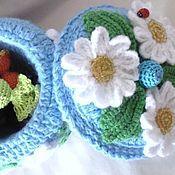 Для дома и интерьера handmade. Livemaster - original item Knitted jewelry BOX for jewelry gift. Handmade.