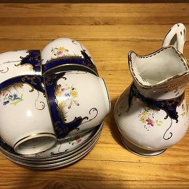 Винтаж ручной работы. Ярмарка Мастеров - ручная работа Кофейные пары и молочник, Англия. Handmade.