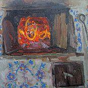 """Картины и панно ручной работы. Ярмарка Мастеров - ручная работа """"Печка"""" - живописный этюд с натуры; холст, масло.. Handmade."""