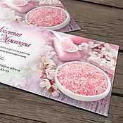 Дизайн и реклама ручной работы. Ярмарка Мастеров - ручная работа Визитка и бирочка мастера косметики. Handmade.