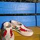 """Обувь ручной работы. Заказать Тапочки """"  красная смородина"""". Гулия. Ярмарка Мастеров. Тапочки валяные, тапочки женские"""
