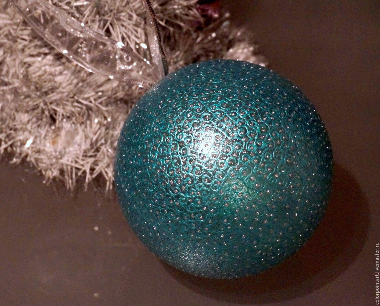 Christmas Ball, Big Christmas Ball, Turquoise Christmas Ornaments,