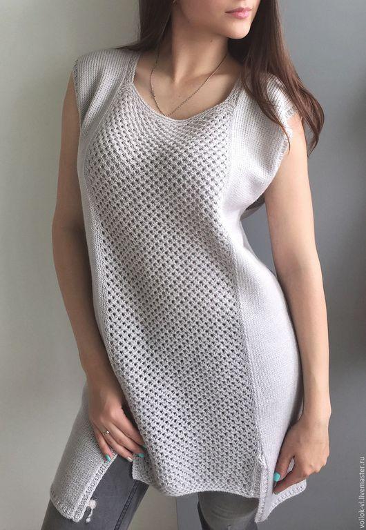 Кофты и свитера ручной работы. Ярмарка Мастеров - ручная работа. Купить Комплект ручной работы джемпер+шарф. Handmade. Серый