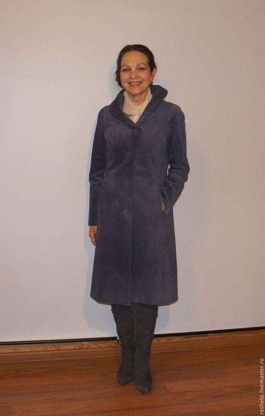 Верхняя одежда ручной работы. Ярмарка Мастеров - ручная работа. Купить Пальто замшевое. Handmade. Сиреневый, Пальто ручной работы
