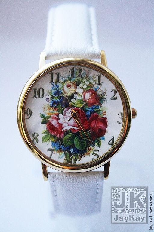 """Часы ручной работы. Ярмарка Мастеров - ручная работа. Купить Часы наручные JK """"Букет"""". Handmade. Наручные часы"""