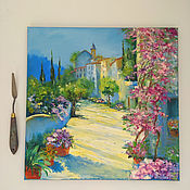 Картины и панно handmade. Livemaster - original item Oil painting. Summer. The streets of the city. Landscape European. Handmade.