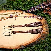 Украшения ручной работы. Ярмарка Мастеров - ручная работа Серьги с мётлами. Handmade.