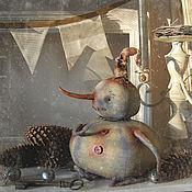 Куклы и игрушки ручной работы. Ярмарка Мастеров - ручная работа Снеговик Снежань. Handmade.