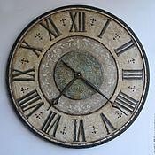 """Для дома и интерьера ручной работы. Ярмарка Мастеров - ручная работа часы настенные """"Bidasar Green"""" (75см диаметр). Handmade."""