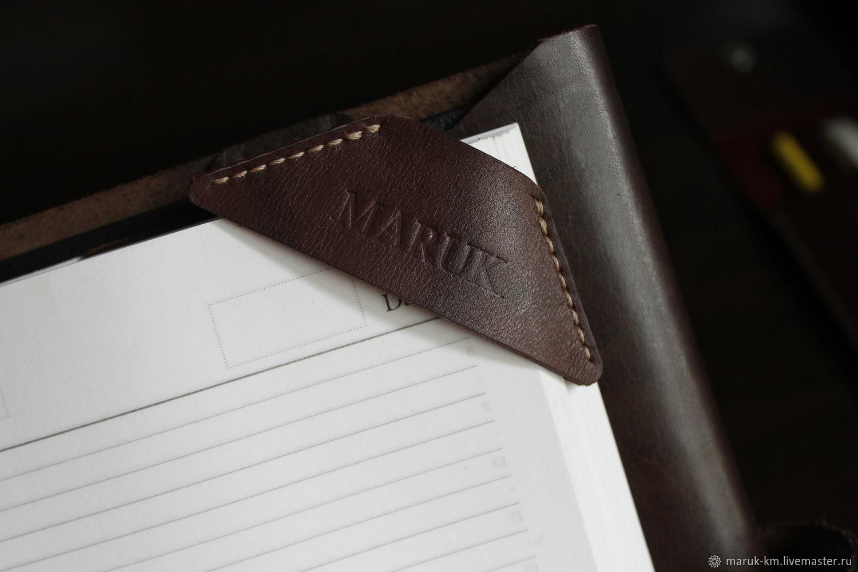 Закладка для книги из натуральной кожи ручной работы, Закладки, Волжский, Фото №1