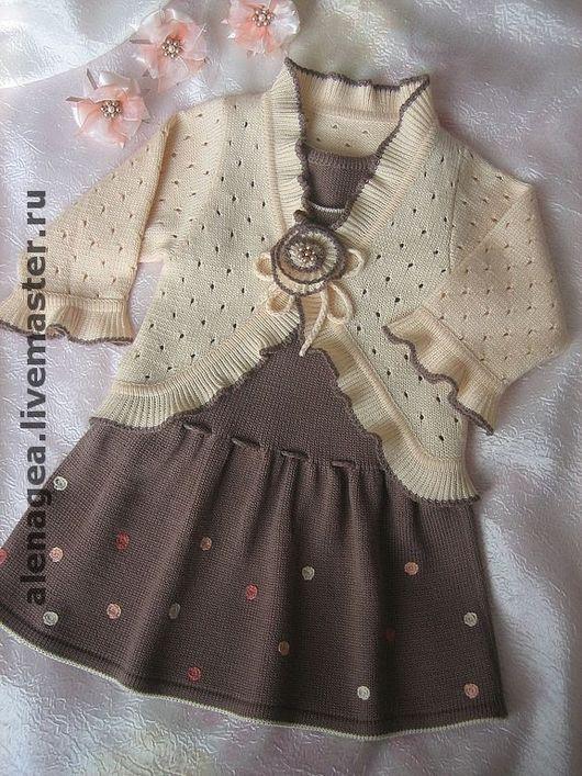 """Одежда для девочек, ручной работы. Ярмарка Мастеров - ручная работа. Купить Комплект (сарафан и болеро) """"Для доченьки"""". Handmade."""