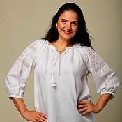 Одежда ручной работы. Ярмарка Мастеров - ручная работа Вышиванка женская. Белым по белому.  Ручная вышивка.. Handmade.