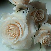 """Украшения ручной работы. Ярмарка Мастеров - ручная работа шпильки """" кремовая роза"""". Handmade."""