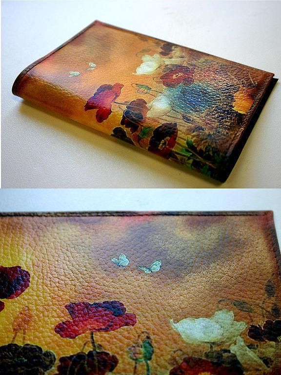 Passport cover Chinese Poppies, Passport cover, St. Petersburg,  Фото №1