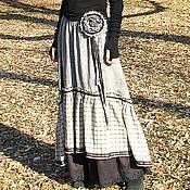Одежда handmade. Livemaster - original item The floor-length skirt in the style boho. Handmade.