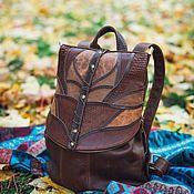 Сумки и аксессуары handmade. Livemaster - original item Backpack leather womens brown MagicTree. Handmade.