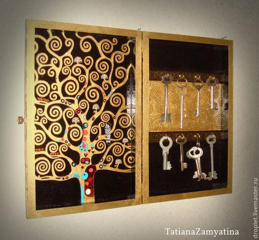 """Прихожая ручной работы. Ярмарка Мастеров - ручная работа. Купить Ключница """"Древо жизни"""" в золоте. Handmade. Золотой, прихожая, дерево"""