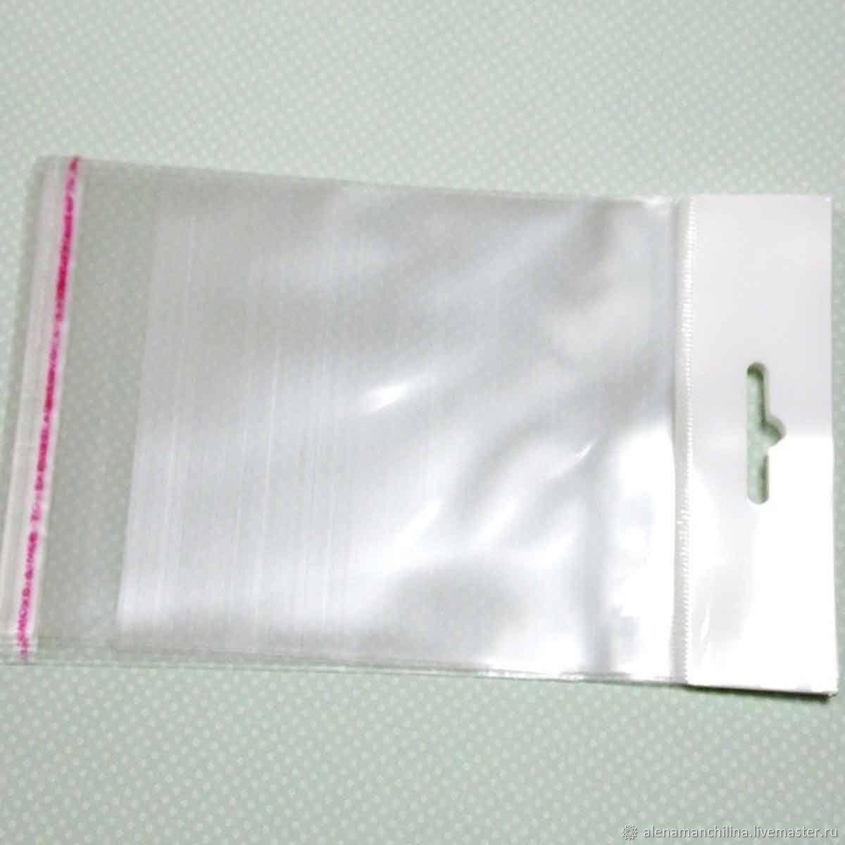 Пакет 14 х 16/24 см. прозрачный с клеевым клапаном усиленным подвесом, Пакеты, Вольск, Фото №1