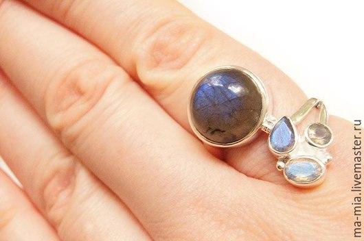Кольца ручной работы. Ярмарка Мастеров - ручная работа. Купить кольцо Лунный свет. Handmade. Разноцветный, кольцо с лабрадоритом
