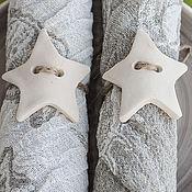 Для дома и интерьера ручной работы. Ярмарка Мастеров - ручная работа Салфетки Ракушки (6 шт) с держателями-звездами. Handmade.