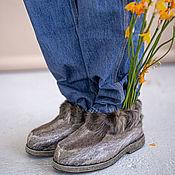 handmade. Livemaster - original item Boots made of natural reindeer camus. Handmade.