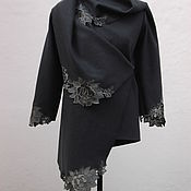 """Одежда ручной работы. Ярмарка Мастеров - ручная работа Жакет """"Серебристые цветы"""". Handmade."""