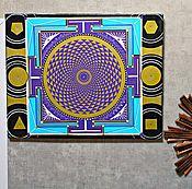Картины и панно ручной работы. Ярмарка Мастеров - ручная работа Сахасрара Янтра Сакральная Геометрия. Handmade.